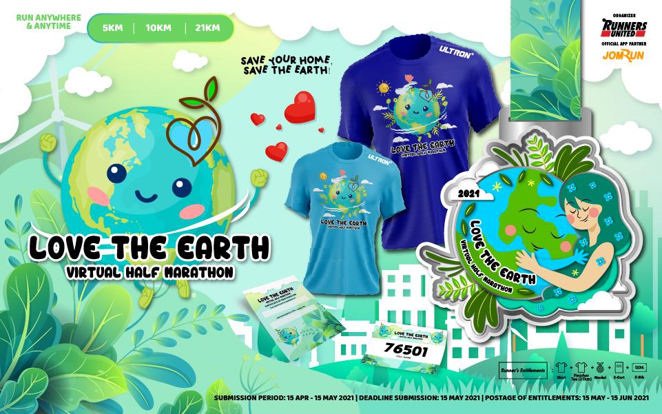 Love The Earth Virtual Half Marathon