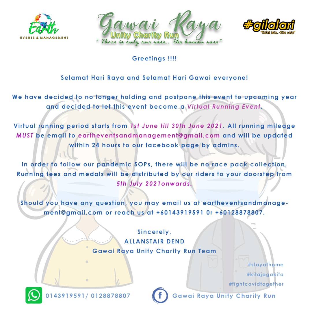 Gawai Raya Unity Charity Run 2021