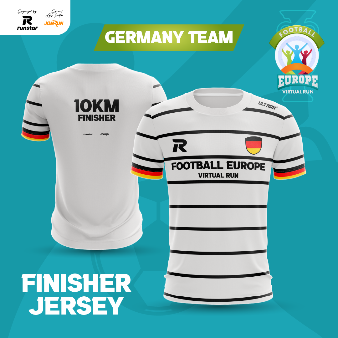 10KM Europe Football Virtual Run