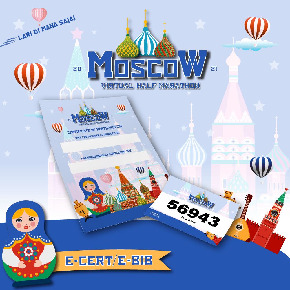 Moscow Virtual Half Marathon - Indonesia