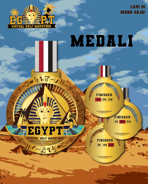 Egypt Virtual Half Marathon - Indonesia