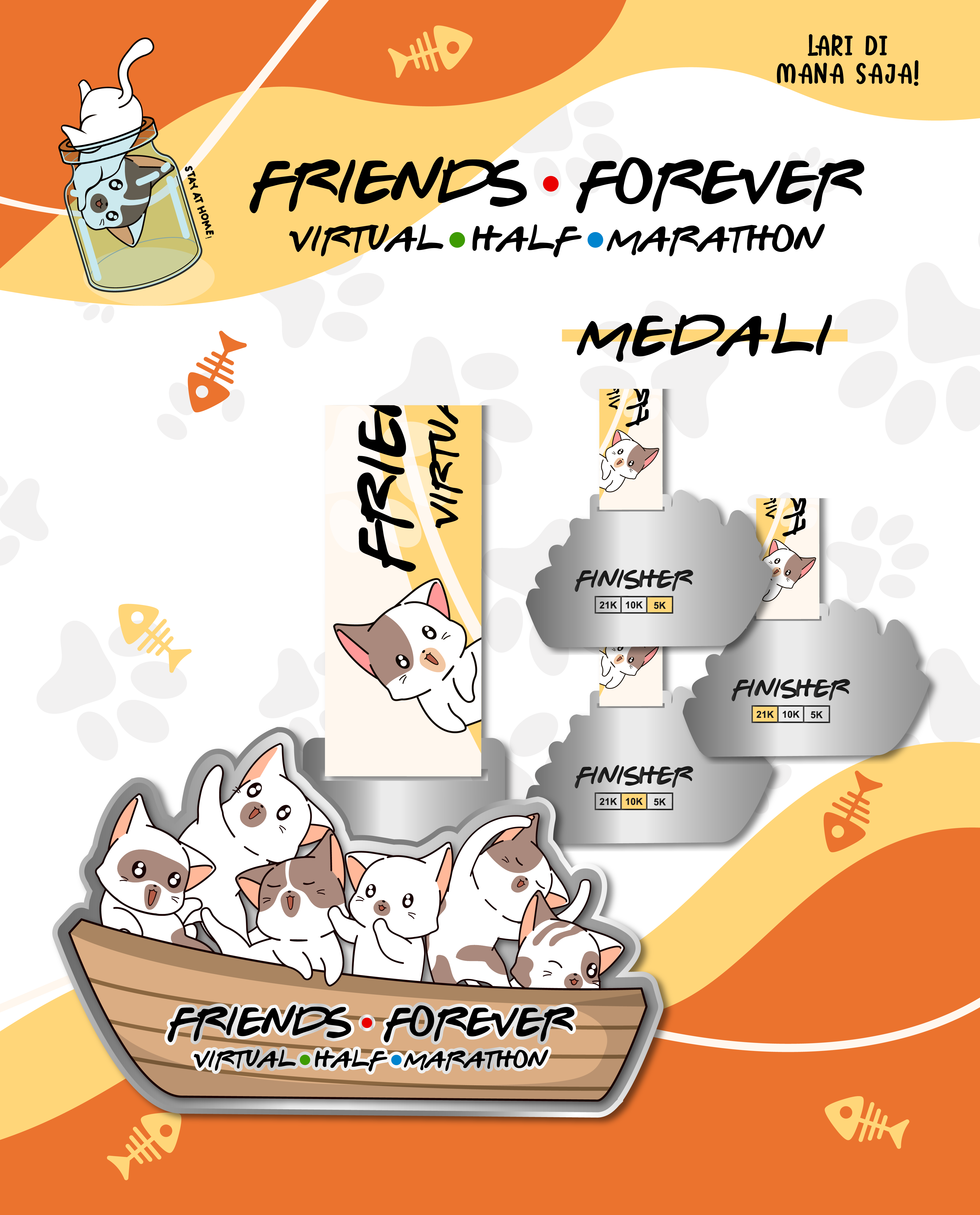 Friends Forever Virtual Half Marathon - Indonesia