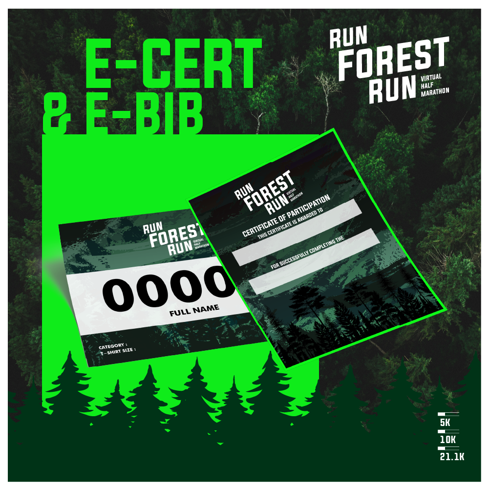 Run Forest Run Virtual Half Marathon