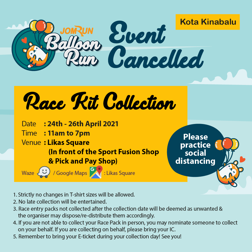 Kota Kinabalu 5KM JomRun Balloon Run (Event cancelled)