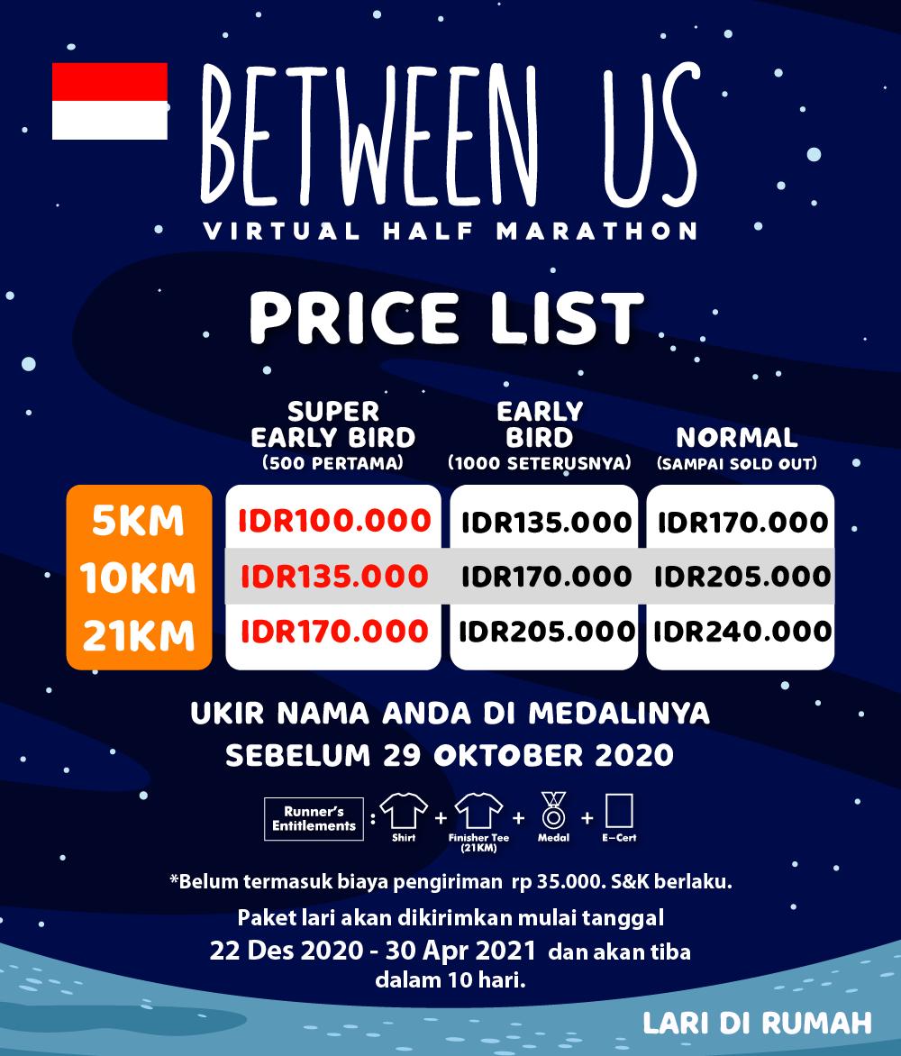Between Us Virtual Half Marathon - Indonesia