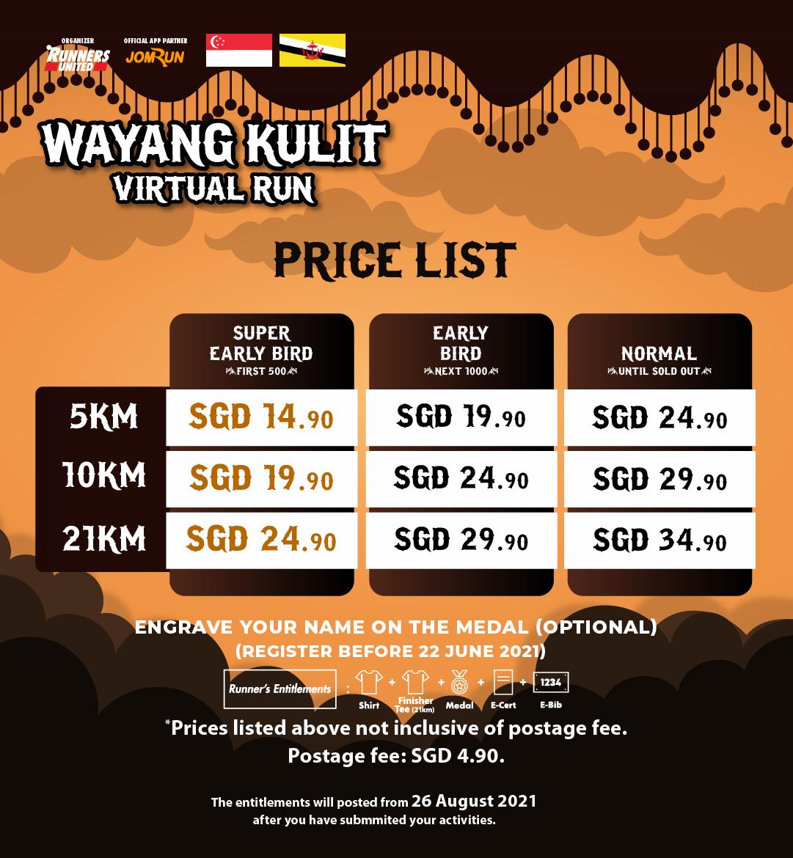 Wayang Kulit Virtual Run - SG/BR