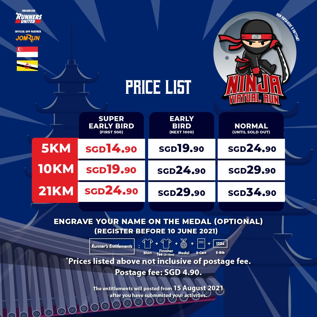 Ninja Virtual Run 2021 - SG/BR