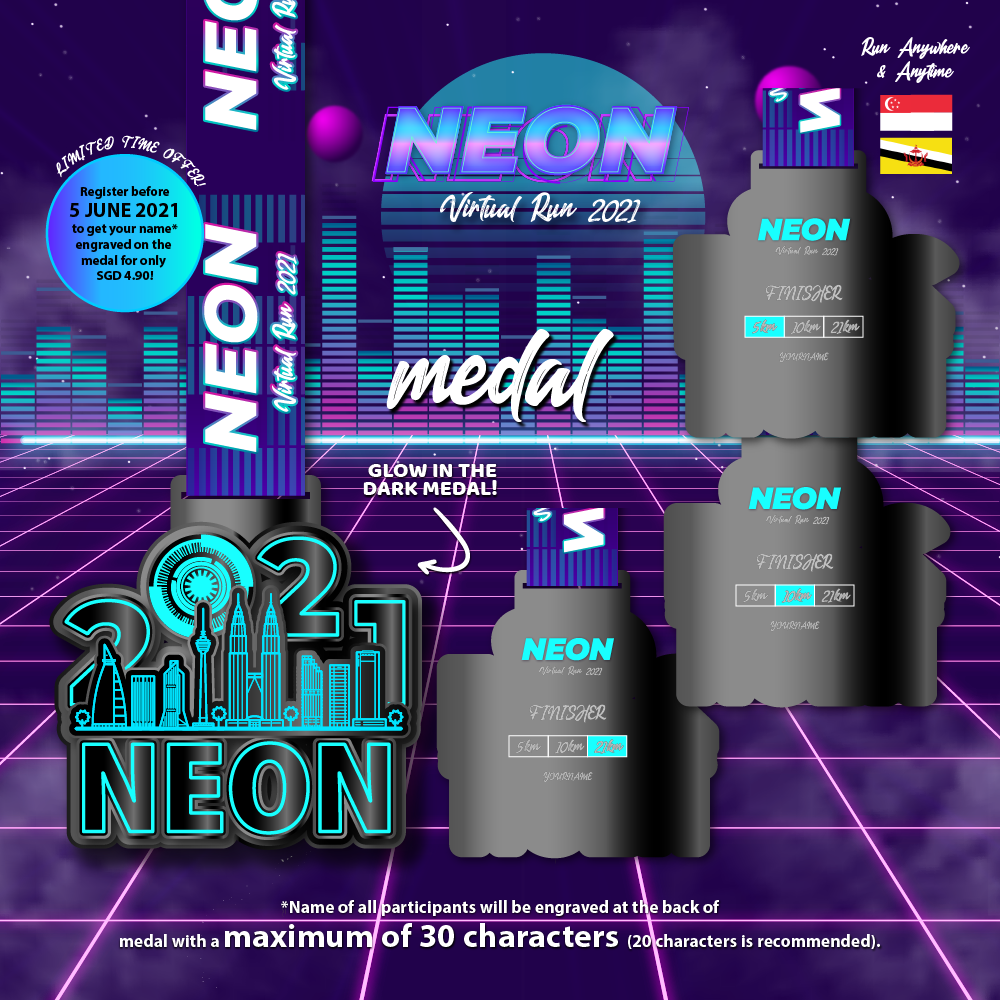 Neon Virtual Run 2021 - SG/BR
