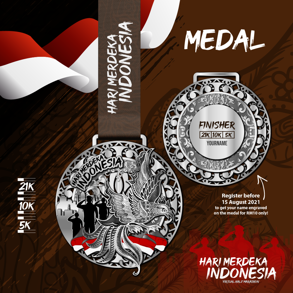 Hari Merdeka Indonesia Virtual Half Marathon - Malaysia