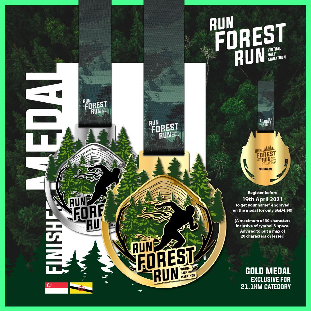 Run Forest Run Virtual Half Marathon - SG/BR