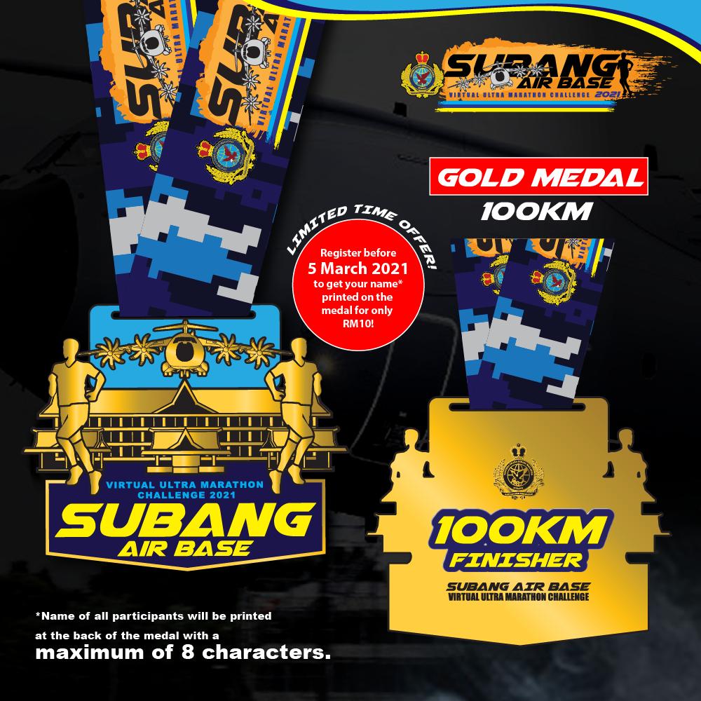 Subang Air Base Virtual Ultra Marathon Challenge 2021