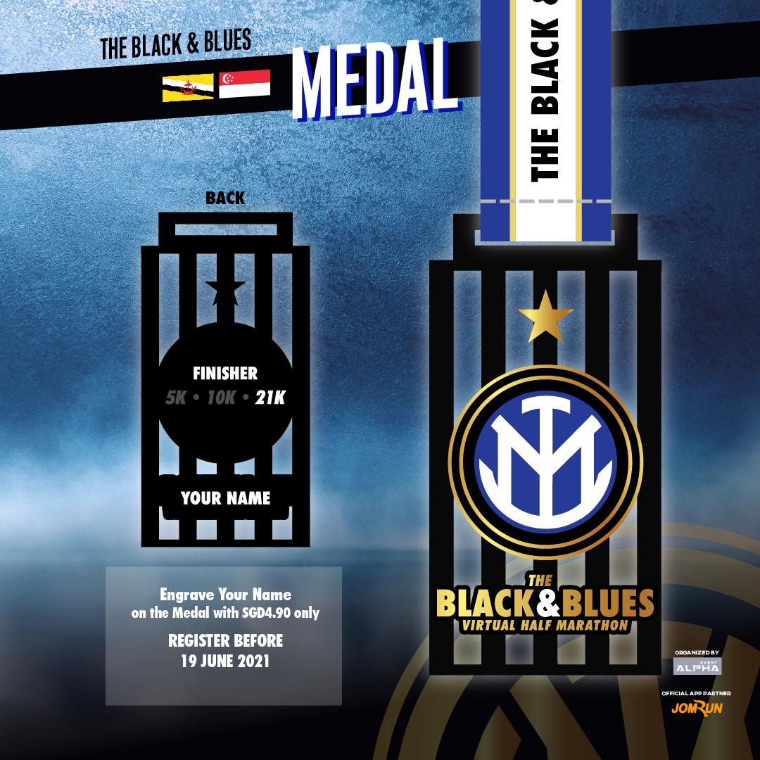 The Black & Blues Virtual Half Marathon - SG/BR