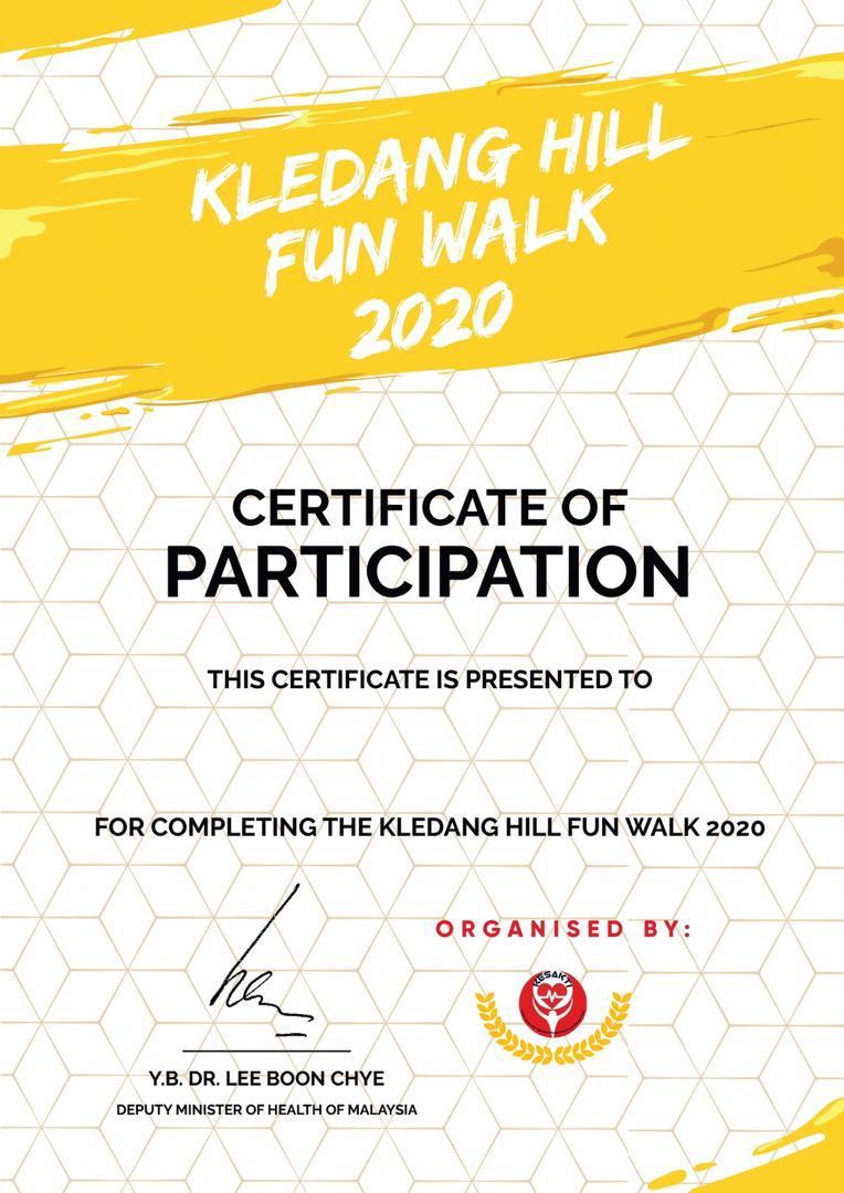 KLEDANG HILL FUN WALK 2020