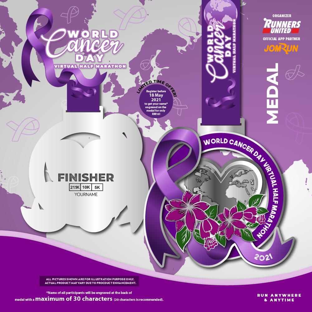 World Cancer Day Virtual Half Marathon