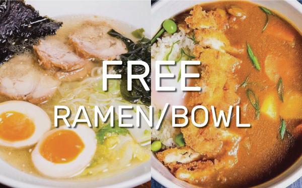 ZAMZA: FREE Ramen/Bowl