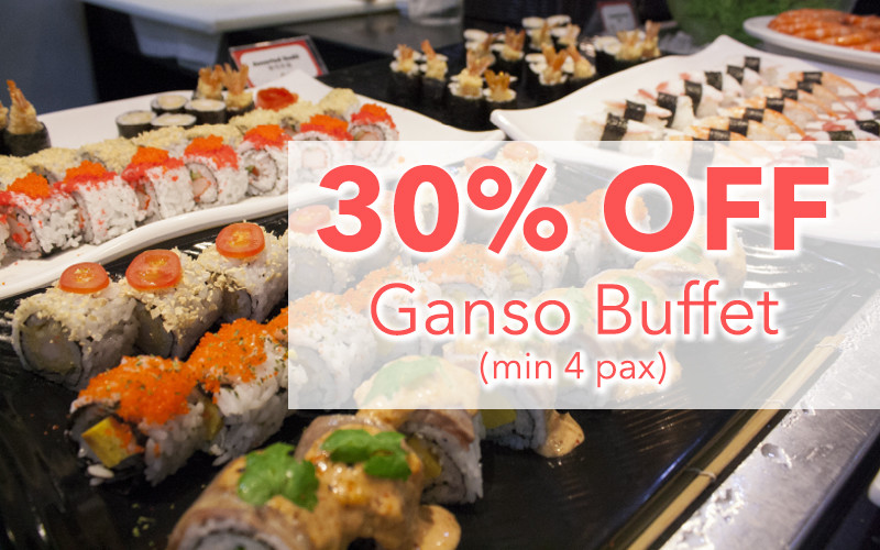 MANEKINEKO:  30% Off Ganso Buffet  (min 4 pax)