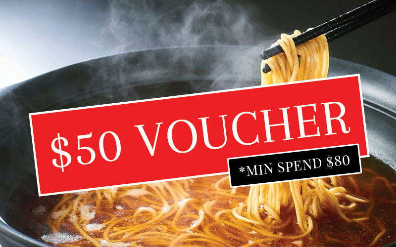 FUJISOBA: $50 Voucher Exchange with Min Spend $80. *Please read terms & conditions.