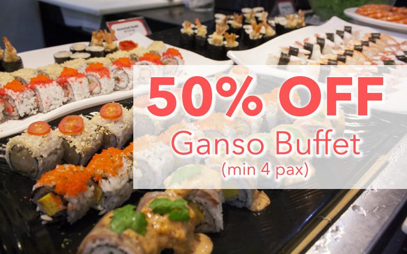 MANEKINEKO:  50% Off Ganso Buffet  (min 4 pax)