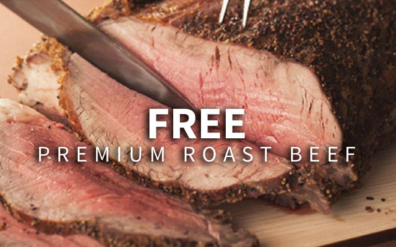 GINZA LION: Free Premium Roast Beef