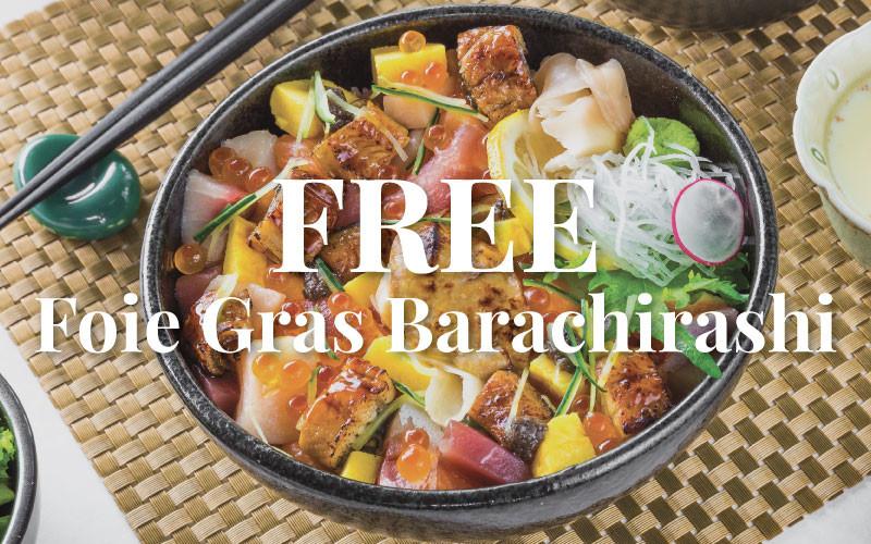 Yamazaki and Fukuda Japanese Restaurant & Bar - FREE Foie Gras Barachirashi