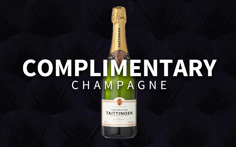 K SUITES: COMPLIMENTARY Champagne (valid with room booking)