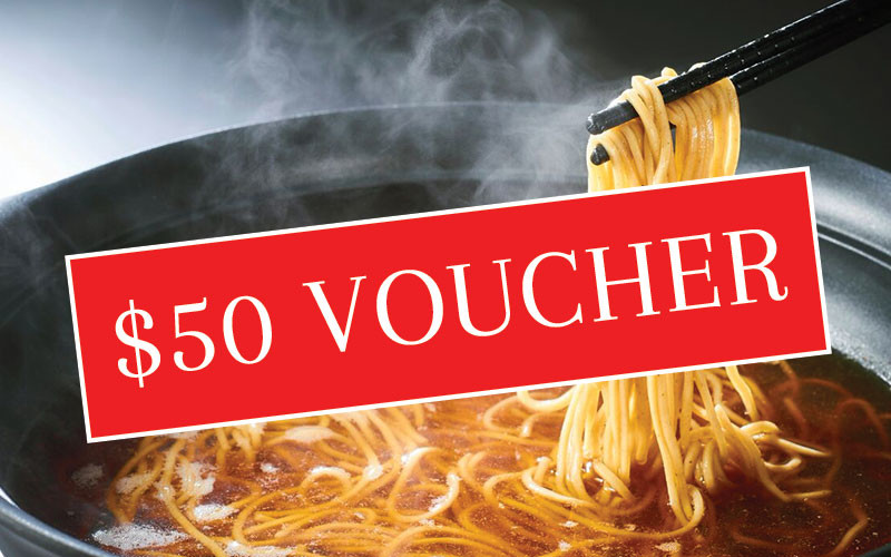 FUJISOBA: $50 Voucher Exchange. *Please read terms & conditions.