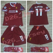 71466f2a615 Jersey Liverpool Home FULL SET KIT OFFICIAL + Cetak Nama + Full Patch UCL