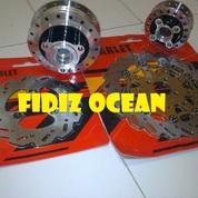 Tromol Set Satria FU Chrome Double Disc