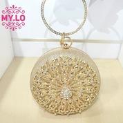 TAS PESTA WANITA PARTY BAG CLUTCH GOLD IMPORT MYLO MC12A85 7f61dcce12