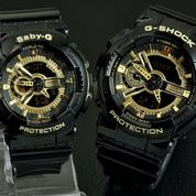 JAM TANGAN COUPLE CASIO GSHOCK GA110 BLACK LIST GOLD a06d9a0927