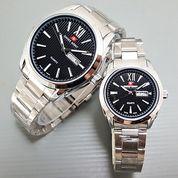 Jam Tangan Swiss Army XII Couple Rantai Silver-Black Tgl Hari Aktif d4daa3f7e0