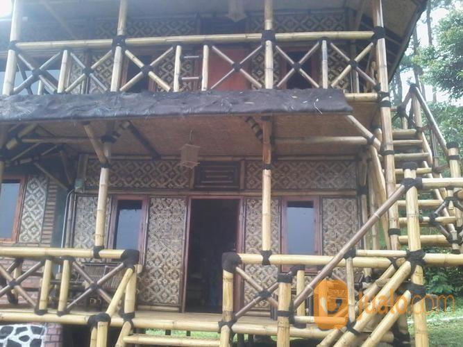 rumah bambu & saung bambu murah