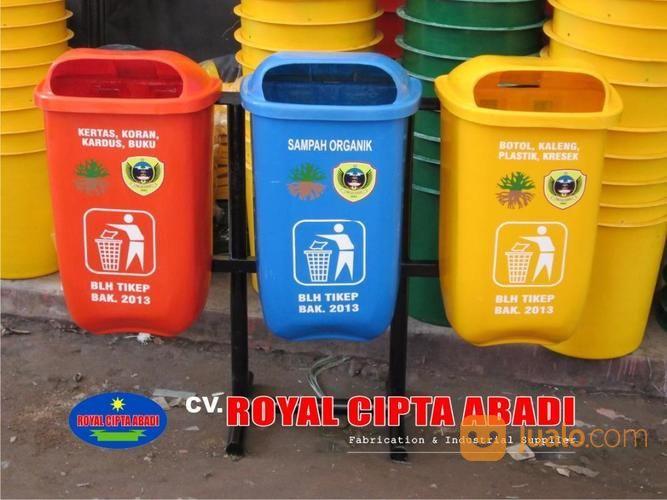 tempat sampah fiber b3 tong sampah fiber