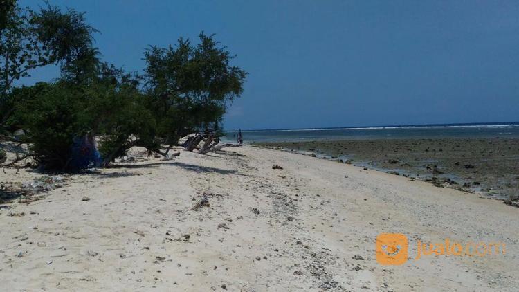 tanah pinggir pantai sunset point gili trawangan lombok