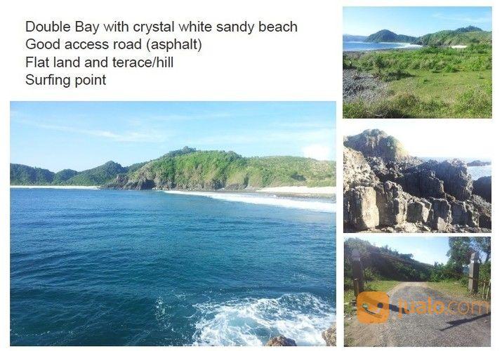 tanah lokasi strategis pantai mawi tempat surfing terbaik di lombok