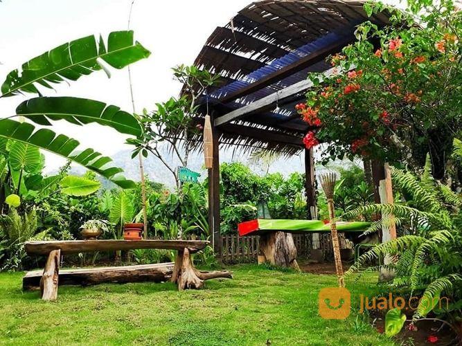 villa homestay guest house bangunan jawa etnik di kawasan candi borobudur, magelang, jawa tengah