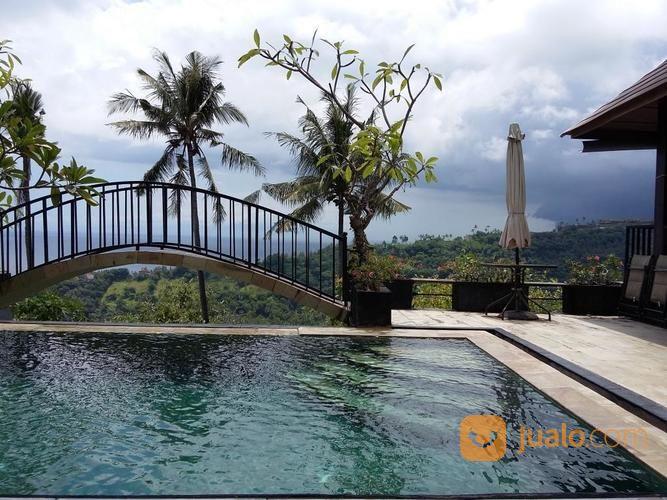 villa full view sunset dan laut batu layar - lombok