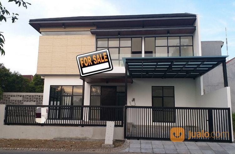 a0809 brand new,modern stylish house at taman puspa raya citraland,2floor,hoek 3,7m