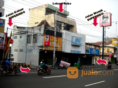 ruko 5 lantai terletak dipusat bisnis kota yogyakarta jl urip sumoharjo , sangat strateg