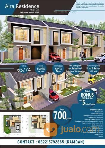 rumah murah lantai 2 - aira residence - kelapa dua depok