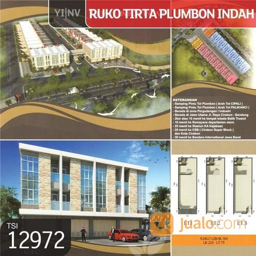ruko tirta plumbon indah, cirebon, new brand, 5x16m, 3 lt, shm