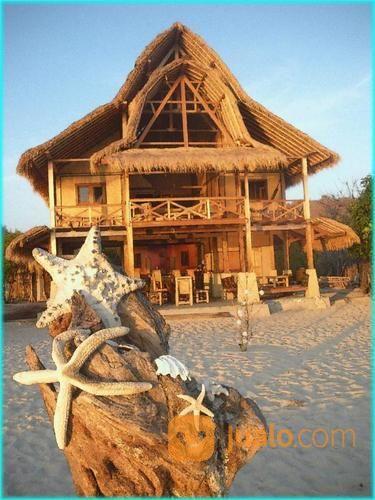 villa pinggir pantai pasir putih di gili gede sekotong