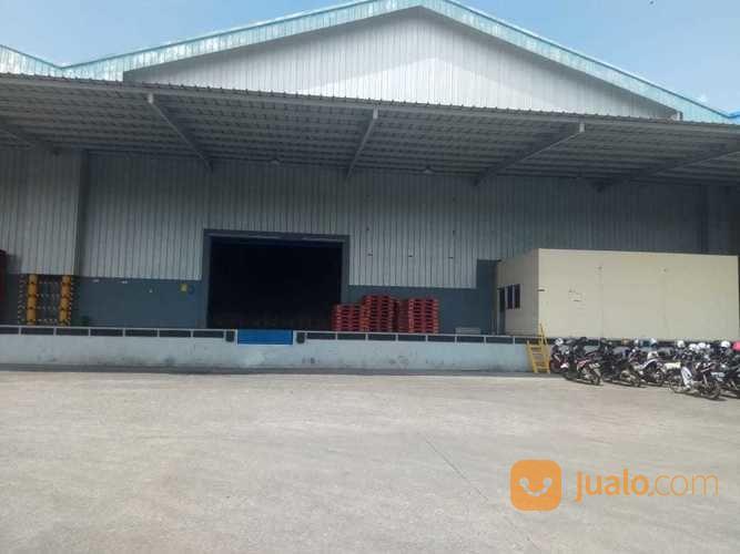 gudang t b 100.000 15.000 lengkap dengan dock leveler di kawasan industri kitic deltamas cikarang
