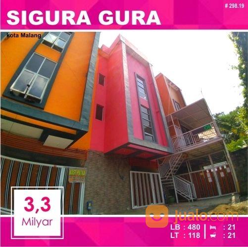 rumah kost murah 21 kamar luas 118 daerah sigura gura kota malang 298.19
