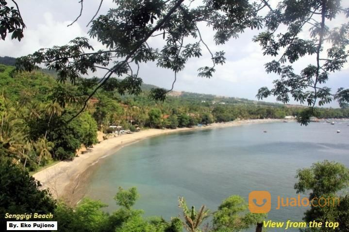 tanah bukit tepi pantai view terbaik central senggigi - lombok