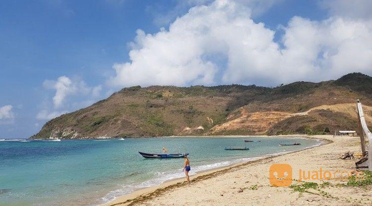 tanah 1,40 ha tepi pantai are guling lombok view menawan
