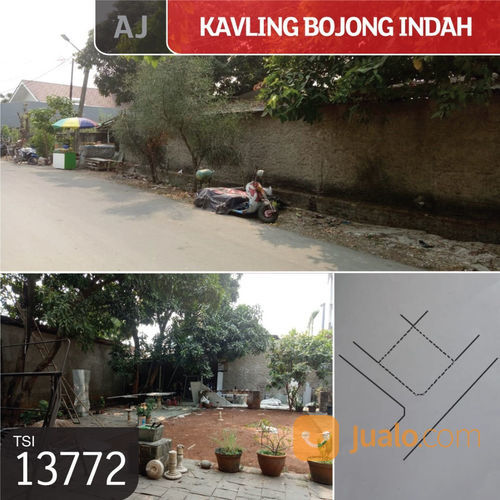 kavling bojong indah, jakarta barat, 438 m, shm