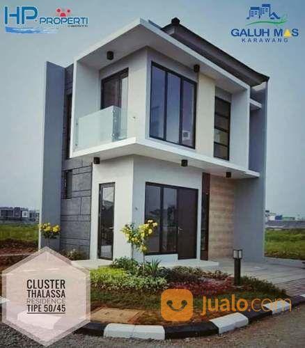 rumah cluster 3 kamar 2 lantai bisa buat kost kostan di galuh mas karawang