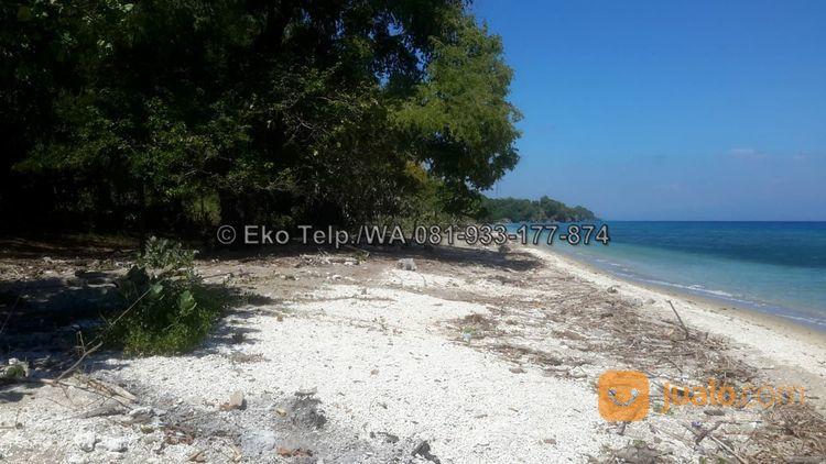 tanah cantik tepi pantai pasir putih pulau moyo view sunsite