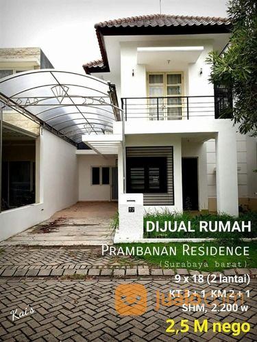 rumah prambanan residence cluster syailendra - menganti minimalis dua lantai, baru renovasi.